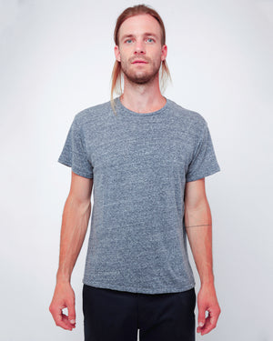 Men's Navy Slub T-Shirt - front