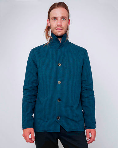Men's Blue Stripe Jacket - front