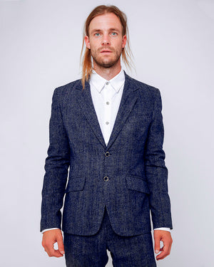 Men's Blazer Tiny White Dot Print - front