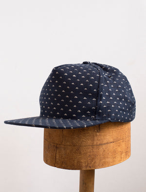 Snapback Cap Hat - Indigo Mountains - front