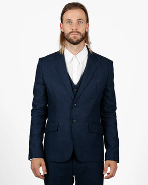 Blazer | Navy French Linen