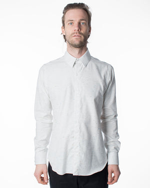 White Button Up Shirt | 18 Waits | Front