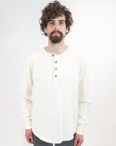 Natural Cream Henley - front