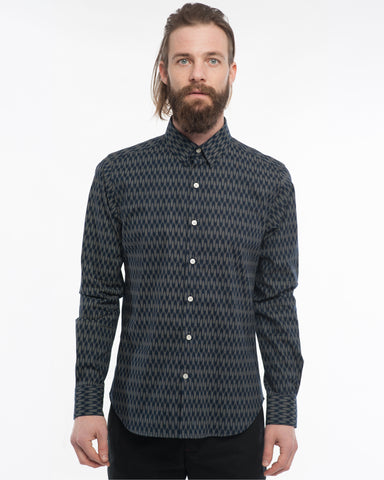 The Dylan Long Sleeve Shirt | Navy Arrows