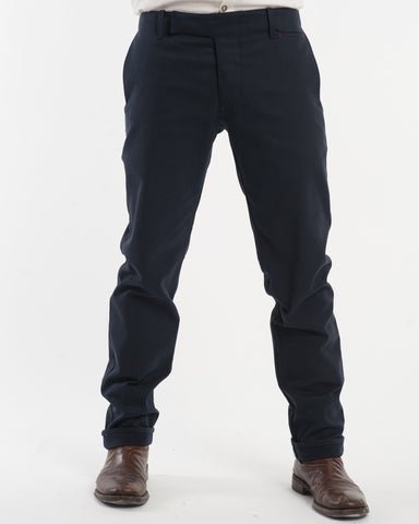 Navy Denim Pants - front
