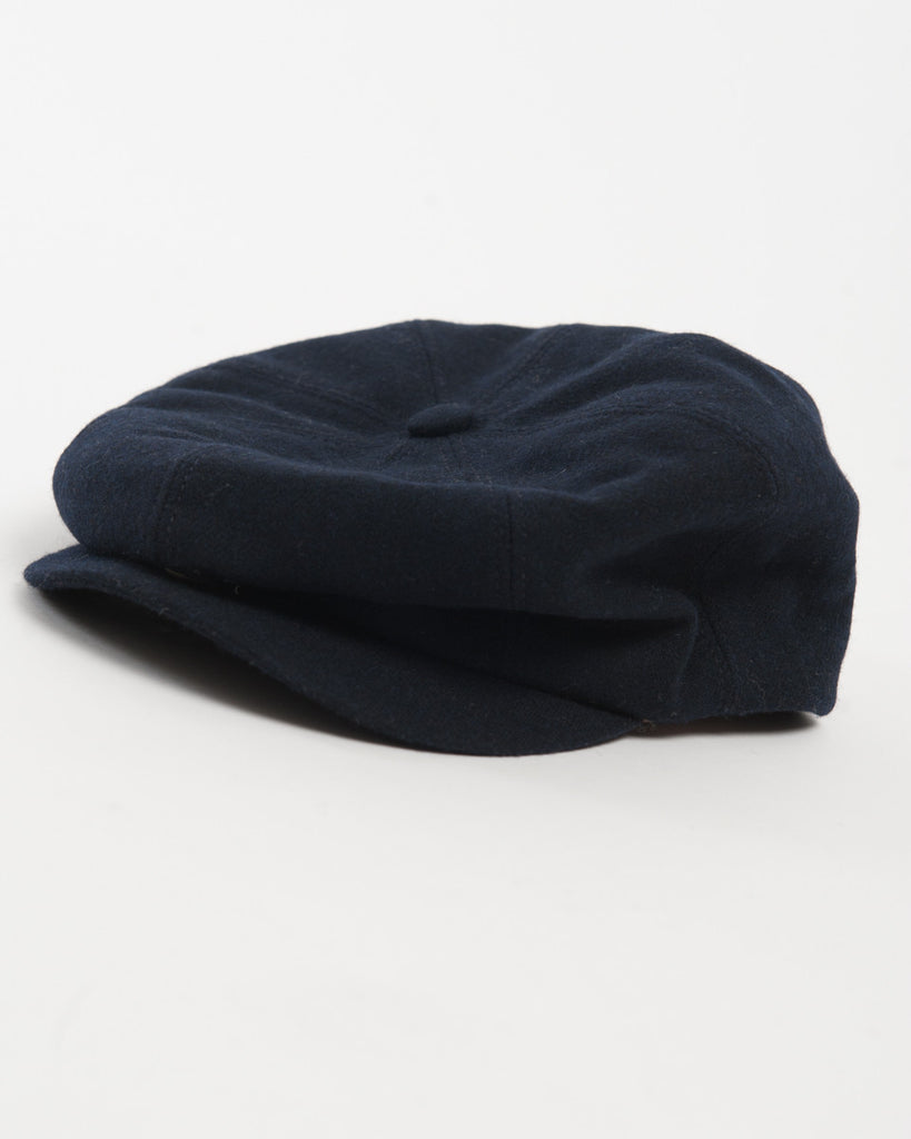 Navy Wool Hat - front