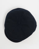 Navy Wool Cap - top