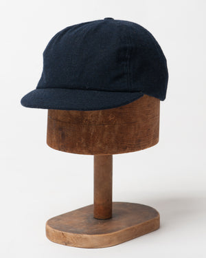 Navy Wool Cap - front