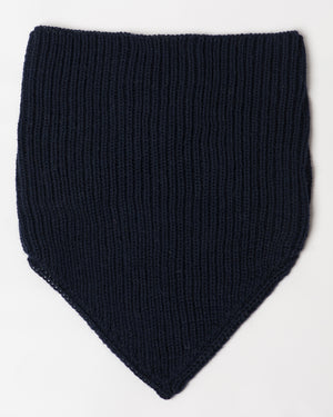 Navy Wool Neckwarmer - front
