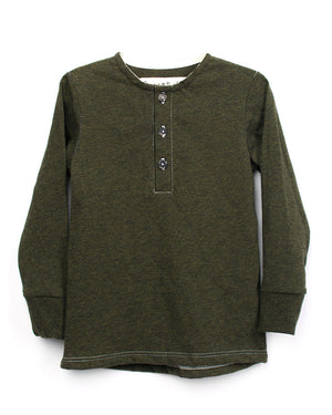 Kids Green Long Sleeve | Hopper Hunter | Front