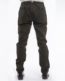 Olive Bull Denim Pants - back