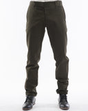 Olive Bull Denim Pants - front