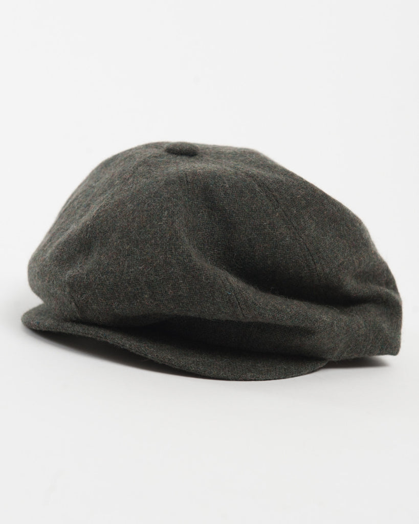 Olive Wool Cap - front