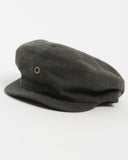 Olive Wool Cap - unbuttoned