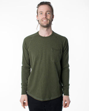 Raglan Pocket Tee | Forest Green