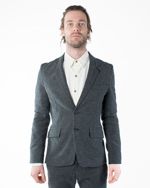 Mens Grey Blazer | 18 Waits | Front | Closed