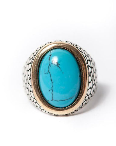 The Desert Blues Collection | Snakeskin Ring in Turquoise