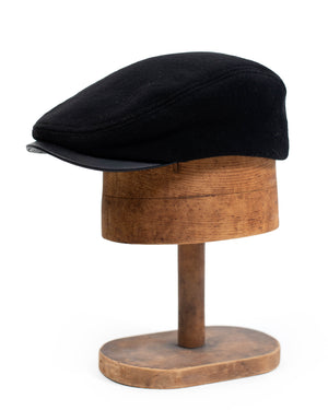 Billy Cap | Leather Visor | Black