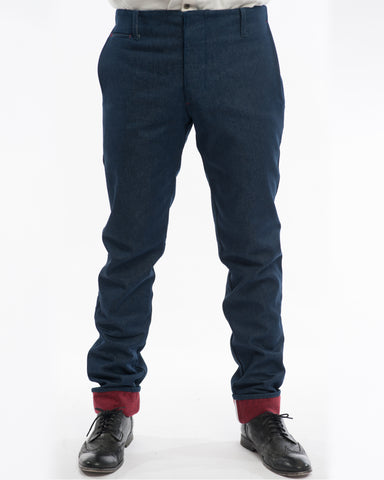 Raw Indigo Pants Lined - front