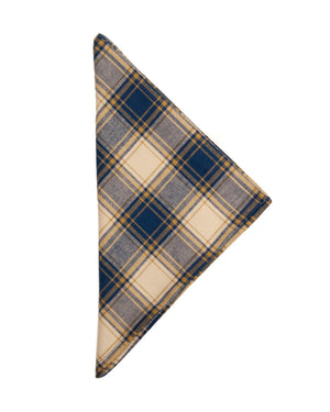 Bandana | Blue/Gold Plaid Flannel