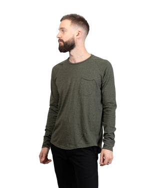 Raglan Pocket T | Evergreen Hemp/Organic Cotton