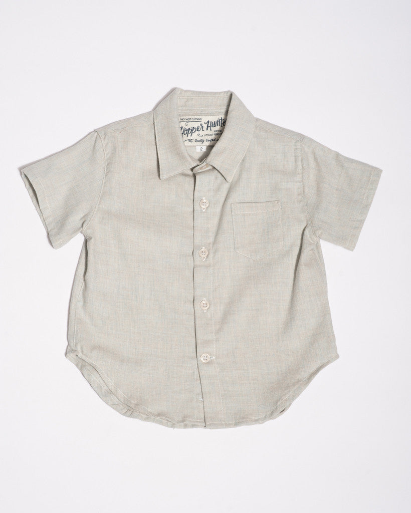 Cotton short sleeve soft blue shirt