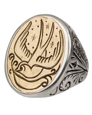 LHN | Swallow Signet Ring