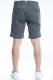 Cotton Soft Grey Twill Slim Short Back