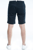Cotton Soft Navy Twill Slim Short Back