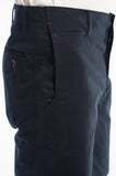 Cotton Soft Navy Twill Slim Short Side