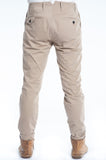 Cotton Soft Khaki Twill Slim Trouser Back