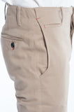 Cotton Soft Khaki Twill Slim Trouser Side