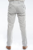 Cotton Off-White Pinstripe Slim Suit Trouser Back