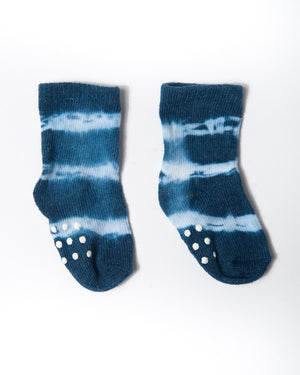 cotton indigo stripes socks