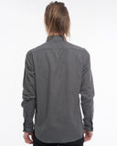The Dylan Long Sleeve Shirt | Soft Grey Diamonds