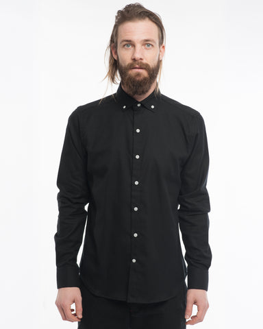 The Windsor | Solid Black Flannel