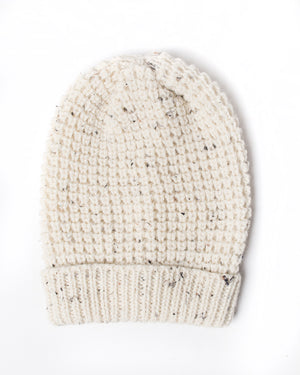 Wool Toque | Cream Fleck Wool