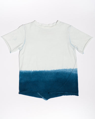 cotton indigo dip dye t-shirt