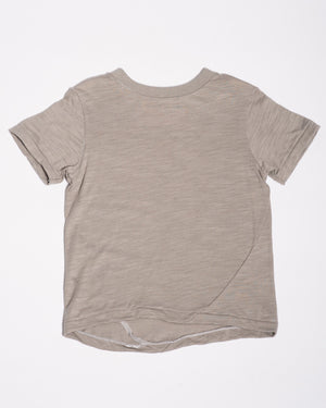 Grey slub jersey t-shirt