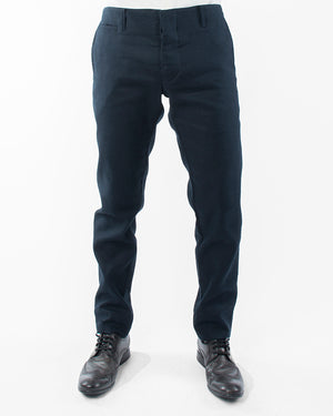 Mens Navy Trousers | 18 Waits | Front