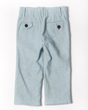 Sunwashed light denim trouser back