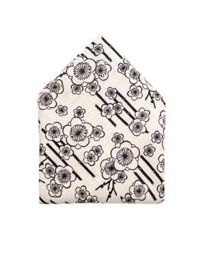 Pocket Square | White Indigo Flowers