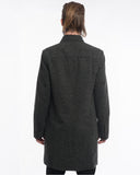 Grey Herringbone Wool Trench - back