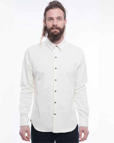 The Dylan Long Sleeve Shirt | Winter White