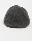 Kids Charcoal Herringbone Wool Cap - front