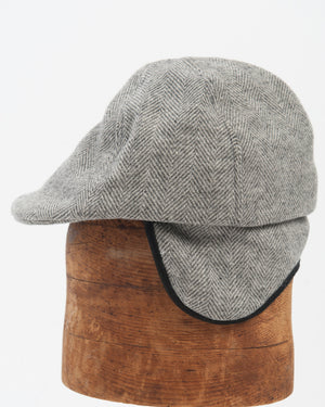 Kids Light Grey Herringbone Wool