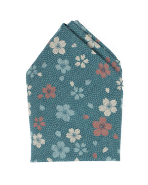Pocket Square | Blue Wildflowers