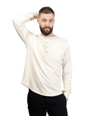 Heritage Henley | Natural Slub Cotton