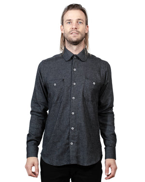 Black Button Up Shirt | 18 Waits | Front