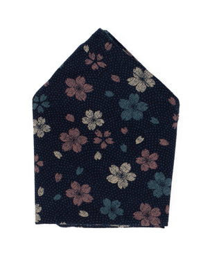 Pocket Square | Navy Wildflowers